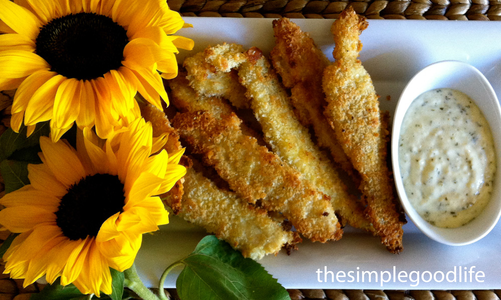 Panko crusted baked fish fingers thesimplegoodlife for Are fish sticks good for you